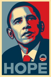 Shepard Fairey's Hope Poster of Barack Obama.