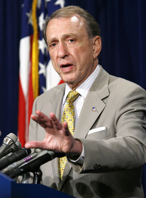 Photo: Reuters/Kevin Lamarque  Sen. Arlen Specter at a Capitol Hill press conference earlier this month.