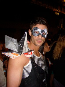 Erik Bucci, a Lady Gaga concertgoer, dresses up in her likeness at her May 2nd show at Terminal 5.